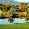A view of a hole with water coming into play from Greg Mastriona Golf Courses at Hyland Hills