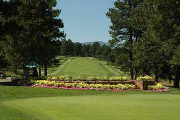 A view of a fairway at Hiwan Golf Club